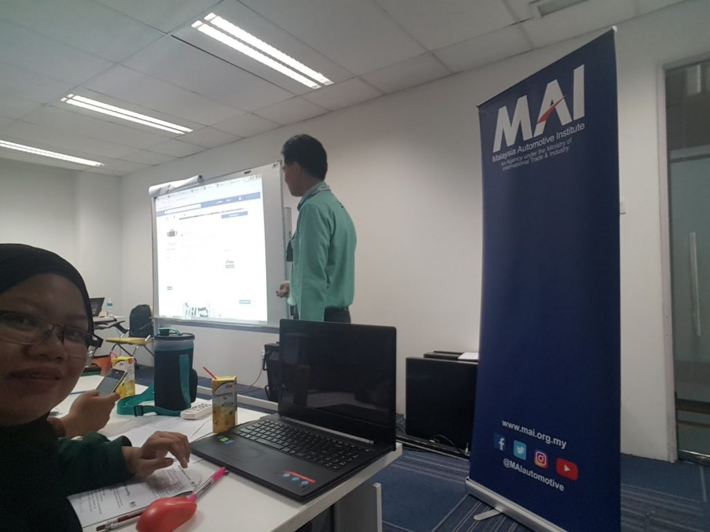 Digital Marketing Class di Malaysia Automotive Institute, Cyberjaya