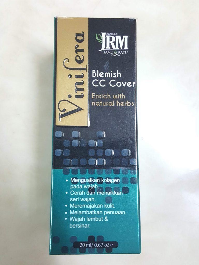 Review Vinifera Blemish CC Cover dari Jamu Ratu Malaya JRM